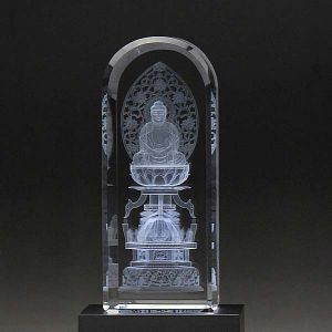 クリスタル お仏像 釈迦座像