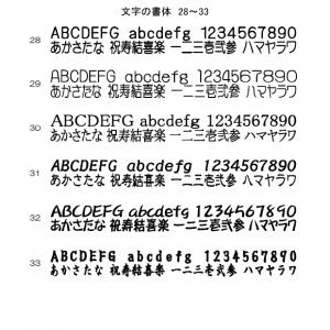 文字の書体 28~33